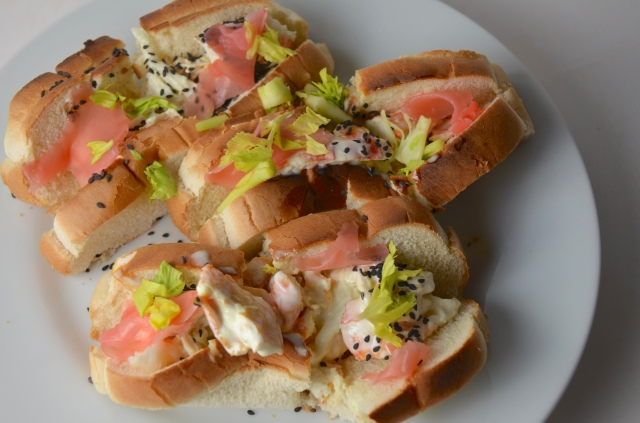 Wasabi Mayo Lobster Rolls With Pickled Ginger