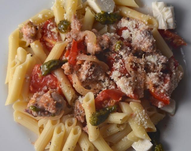Fresh Tomato, Sausage, and Pecorino Gluten-Free Pasta