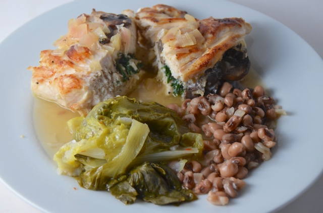 Pan Roasted Stuffed Chicken Breast With Vin Blanc Sauce