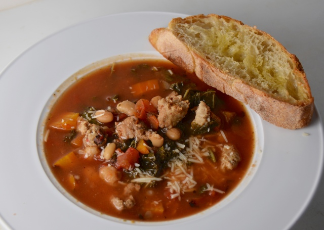 Slow-Cooker Sausage And Kale Soup