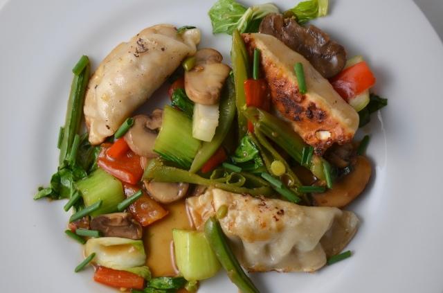 Potsticker And Vegetable Stir-Fry