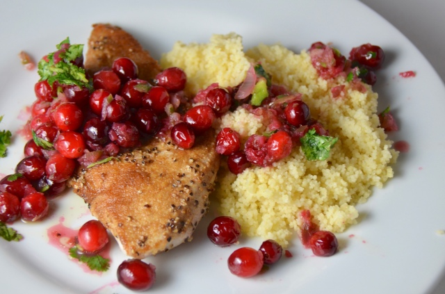 Chicken With Cranberry-Chile Sauce