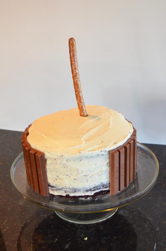 Anti-Gravity M&M Cake