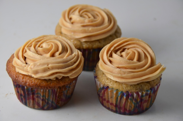 Banana-Nutella Cupcakes With Peanut Butter Icing
