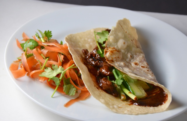 Duck Pancakes With Pickled Carrot Salad