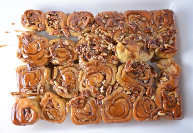 Honey Nut Sticky Buns