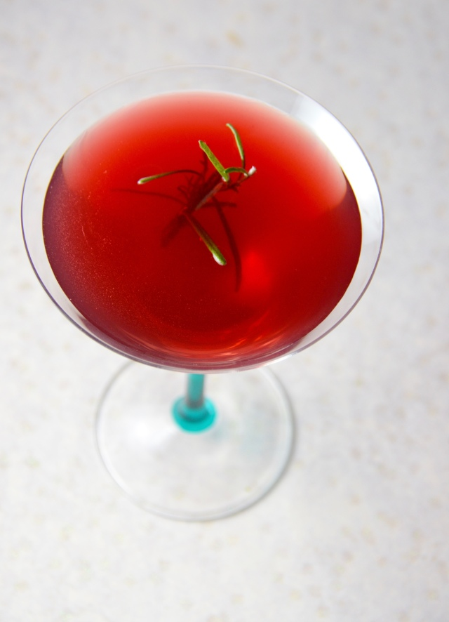 Pomegranate Manhattan