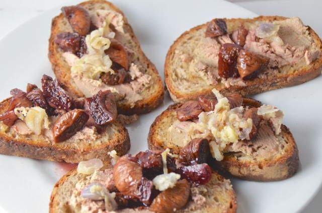 Fig And Paté Bruschetta