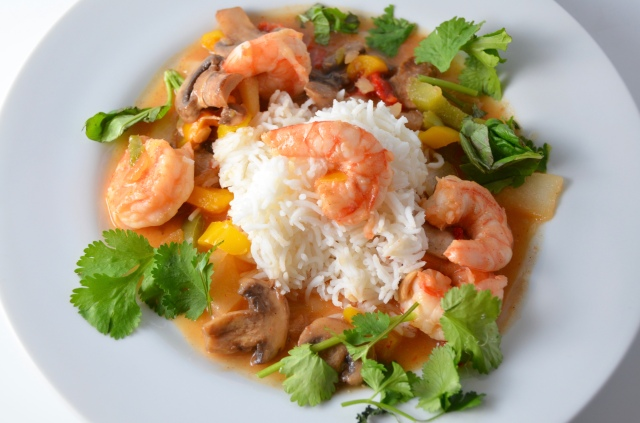 Ginger-Chutney Shrimp Stir Fry