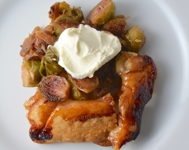 Brussels Sprouts Tarte Tatin